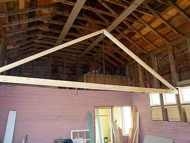 Beam truss to support the eaves